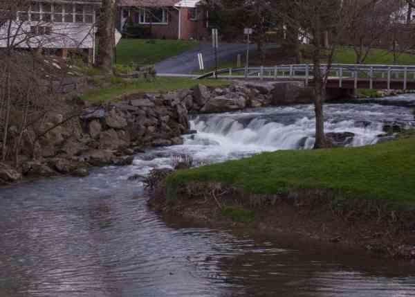 Waterfalls near Harrisburg: Letort Falls in Carlisle