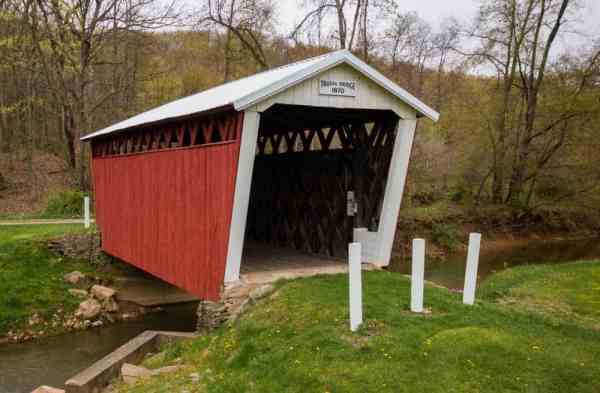 Trusal Covered Bridge in Indiana County, Pennsylvania