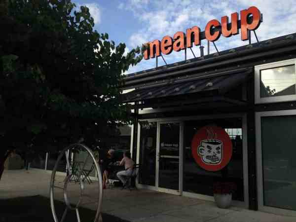 Mean Cup cafe entrance