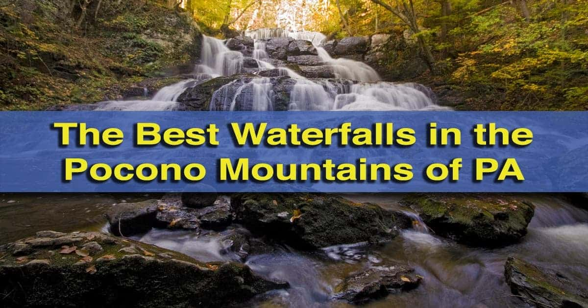 Waterfalls in the Poconos of Pennsylvania