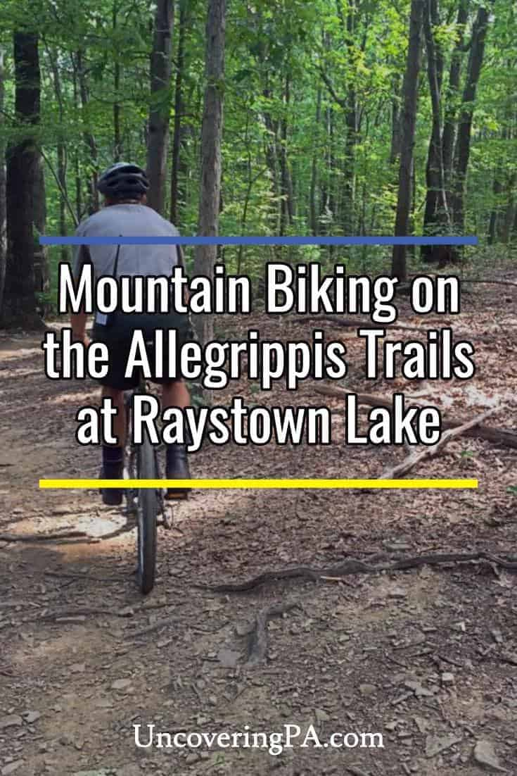 Mountain biking on the Allegrippis Trails at Raystown Lake in Pennsylvania