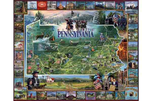 Gifts from PA: White Mountain puzzle