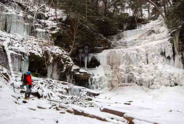 Things to do in PA in January: Hiking Ricketts Glen