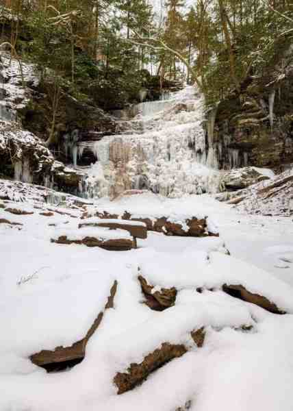 Frozen Ganoga Falls at Ricketts Glen State Park