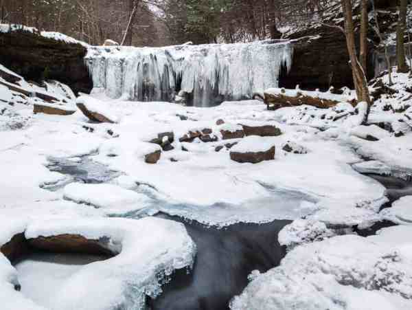 Winter on the Falls Trail at Ricketts Glen State Park