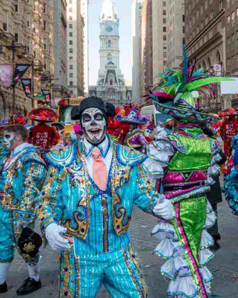 Mummers Parade on New Year's Day in Philadelphia