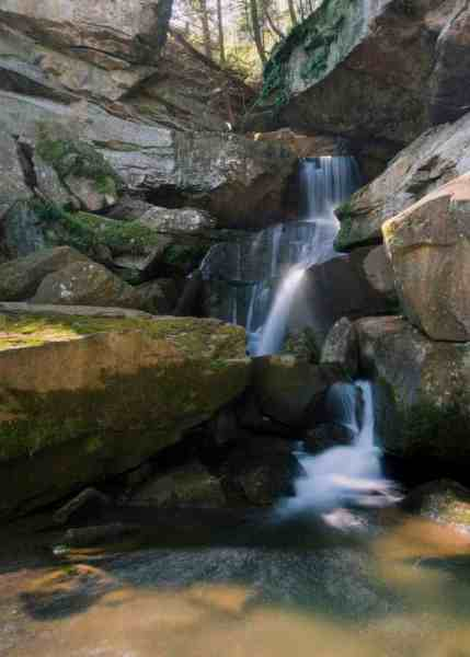 Breakneck Falls is a beautiful waterfall in McConnells Mill State Park