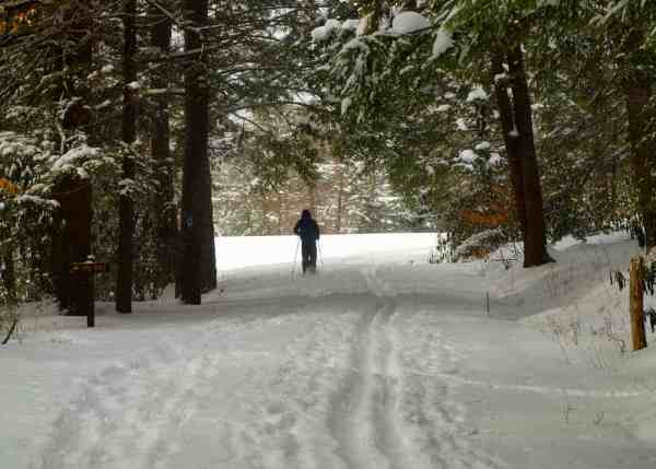 Cross-country skiing in Kooser State Park