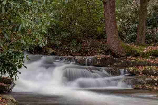Waterfall on Linn Run in Westmoreland County, Pennsylvania