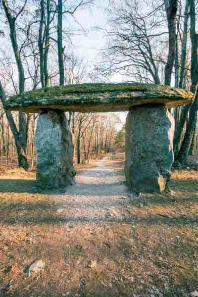 Stone Gateway at Columcille Megalith Park in the Lehigh Valley
