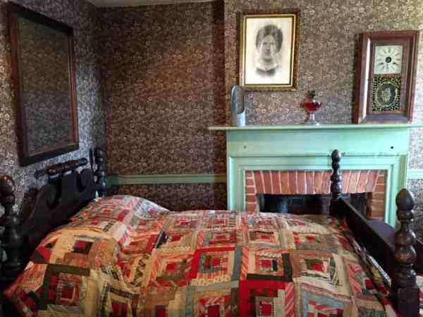 Bedroom in Jennie Wade House in Gettysburg, Pennsylvania