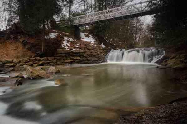 Sweet Arrow Lake Park Falls in Schuylkill County PA