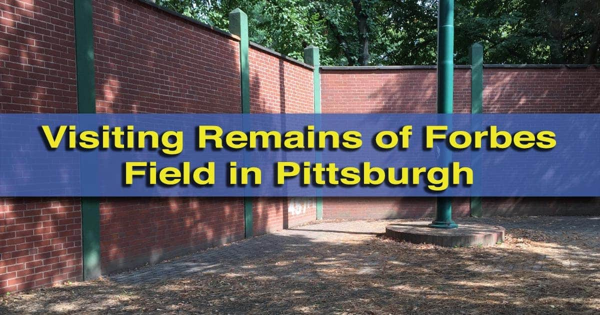 Forbes Field wall in Pittsburgh, PA
