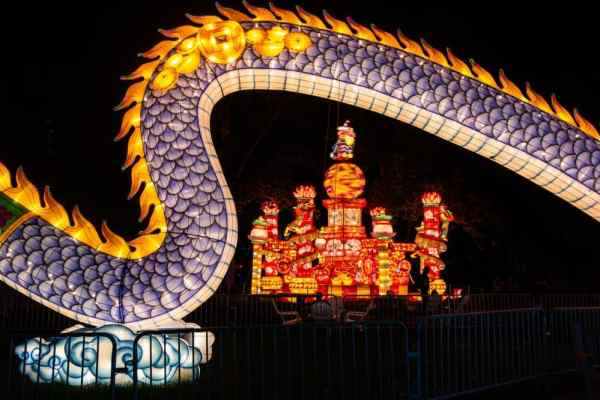 Dragon at the Chinese lantern festival in Philadelphia
