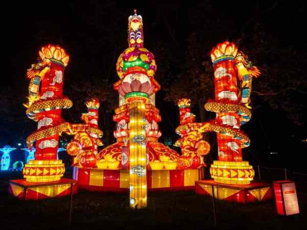 Another lantern at the Chinese Lantern Festival in Philadelphia, Pennsylvania