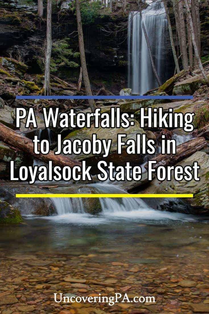 Hiking to Jacoby Falls near Williamsport, Pennsylvania #waterfall