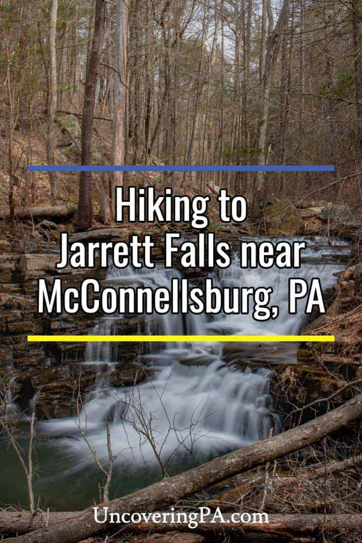 Hiking to Jarrett Falls near McConnellsburg, Pennsylvania #waterfall #pa