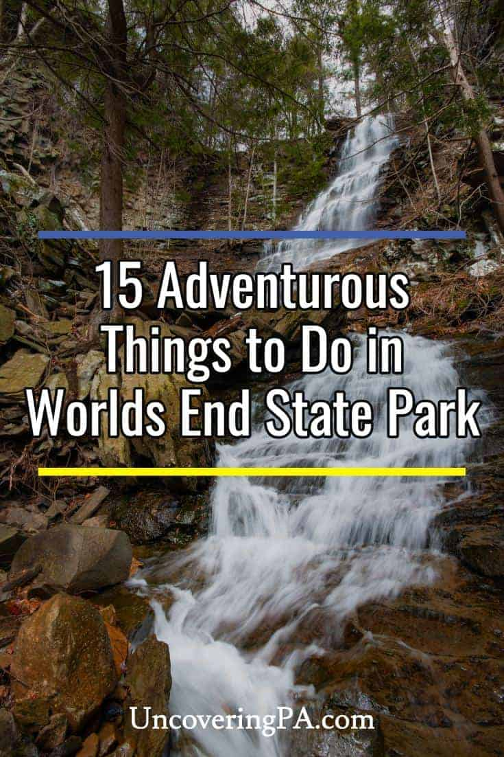 15 Things to do in Worlds End State Park in Pennsylvania #waterfall #overlook #vista #nepa