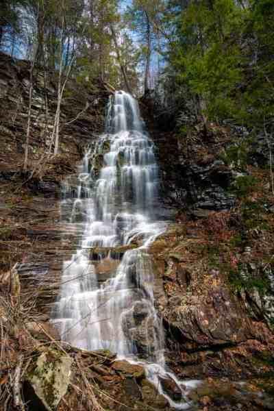 Angel Falls in Sullivan County, Pennsylvania