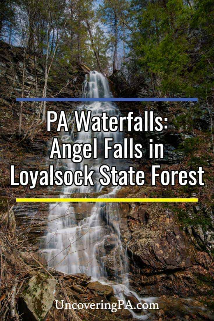 Hiking to Angel Falls in Pennsylvania's Loyalsock State Forest #waterfall