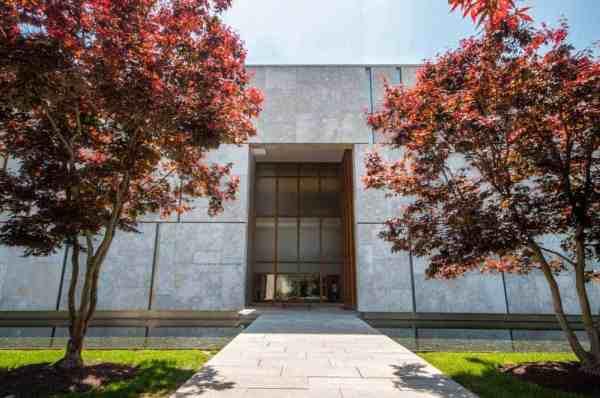 Entrance to Barnes Museum in Philadelphia, PA