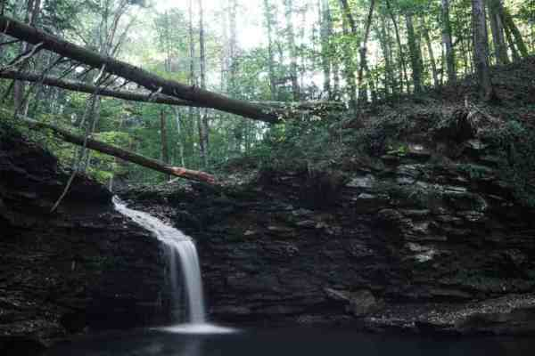 Cottonwood Falls on the Double Run Nature Trail in Pennsylvania