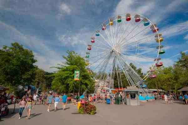 Knoebels Rides including a Ferris wheel