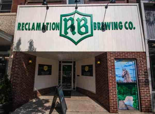Exterior of Reclamation Brewing in Butler, Pennsylvania