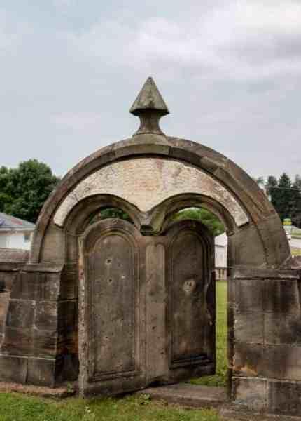Harmonist cemetery in Harmony, Pennsylvania