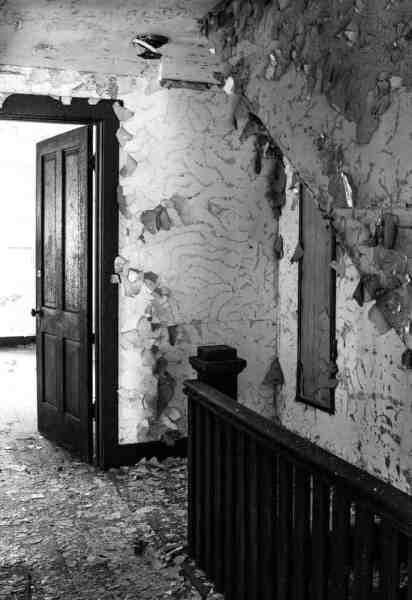 Abandoned hallway in Yellow Dog Village