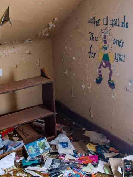 Abandoned belongings at Yellow Dog Village in western Pennsylvania
