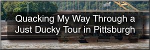 Just Ducky Tours in Pittsburgh
