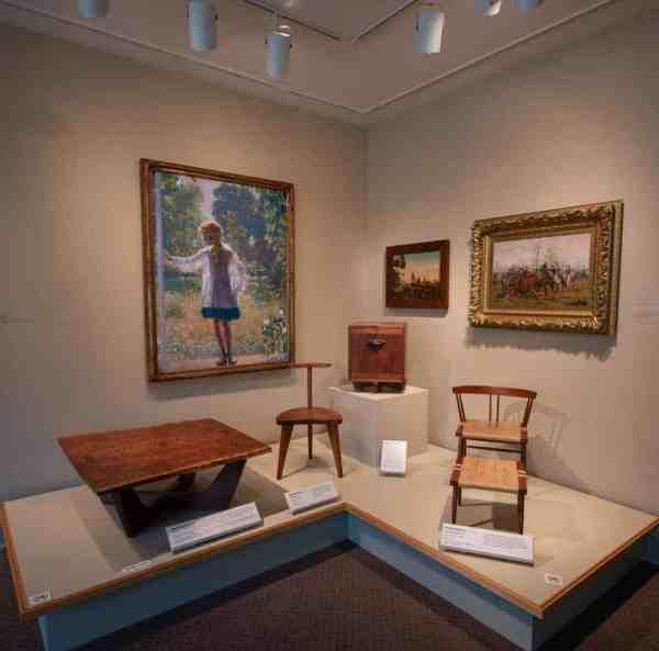 Art inside the Michener Museum in Bucks County, PA