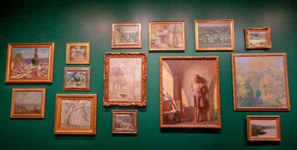 Impressionist paintings at the Michener Museum in Bucks County, Pennsylvania