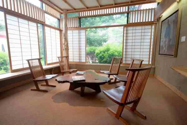 Nakashima Reading Room in the Michener Museum near Philadelphia, PA