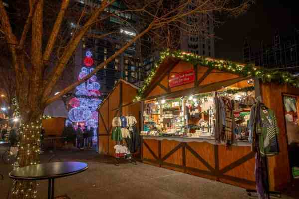 Christmas Light in Pittsburgh can be seen at Market Square's Christmas Market