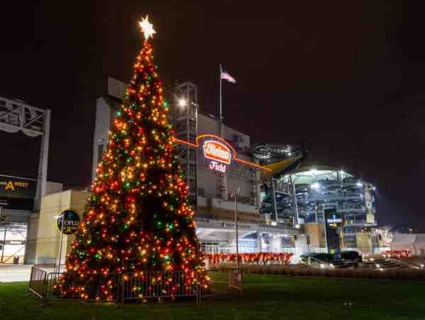 Christmas tree at Heinz Field in Pittsburgh, PA