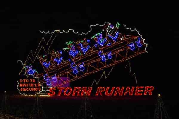 Hersheypark attractions at Hershey Sweet Lights