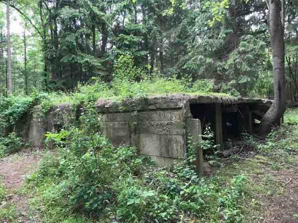 Ruins of Camp Michaux in Pennsylvania.