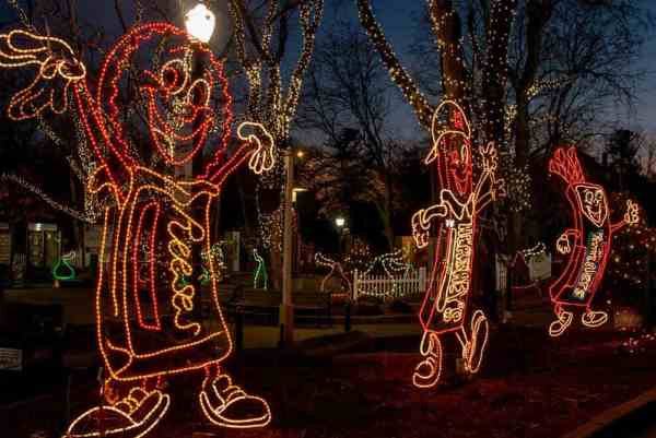Hersheypark Christmas Candylane is one of the best things to do during Christmas in Pennsylvania