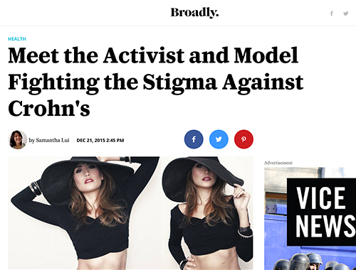 Uncover Ostomy Meet the Activist and Model Broadly Vice 12 21 2015