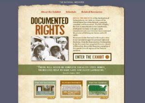 """Documented Rights"" online exhibit screenshot"