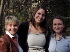 Gina Mahalek (UNC Press Director of Publicity), Laurin Ann Link (Hollins University publishing intern), and Jennifer Hergenroeder (UNC Press Publicity Assistant)