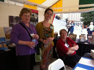 Debbie Moose, Beth, and Kathleen Purvis, Southern Festival of Books 2012