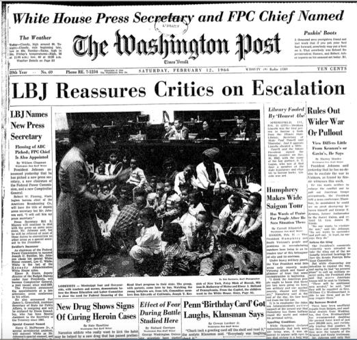 Sanders image for blog - Feb 12 1966 Wash Post