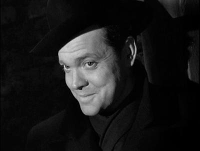 Orson Welles as Harry Lime, film still from The Third Man, 1949.