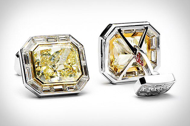 Jacob & Co. Canary Diamond Cufflinks