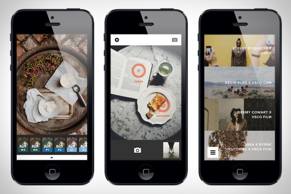 Image of the VSCO photo editing app