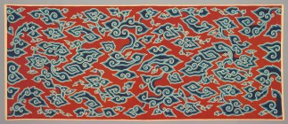 "Wraparound skit (""kain panjang""): cloud design (""megamendung""), Indonesia, Java, Cirebon, c. 1910, handdrawn batik on commercially woven cotton, Dallas Museum of Art, Textile Purchase Fund, 1991.58"