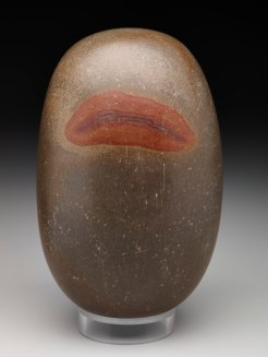 Egg of Brahman or Svayambhu Lingam, India, Asia, probably 20th century, stone, Dallas Museum of Art, Foundation for the Arts Collection, The Mr. and Mrs. Stanley Marcus Collection of Fertility Figures 1982.345.FA